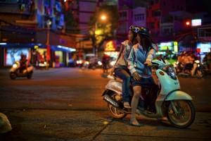 Motorbikes and Saigon Nights