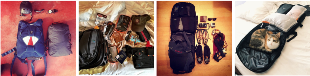 Packing the Minaal Carry-on – Instagram Collage