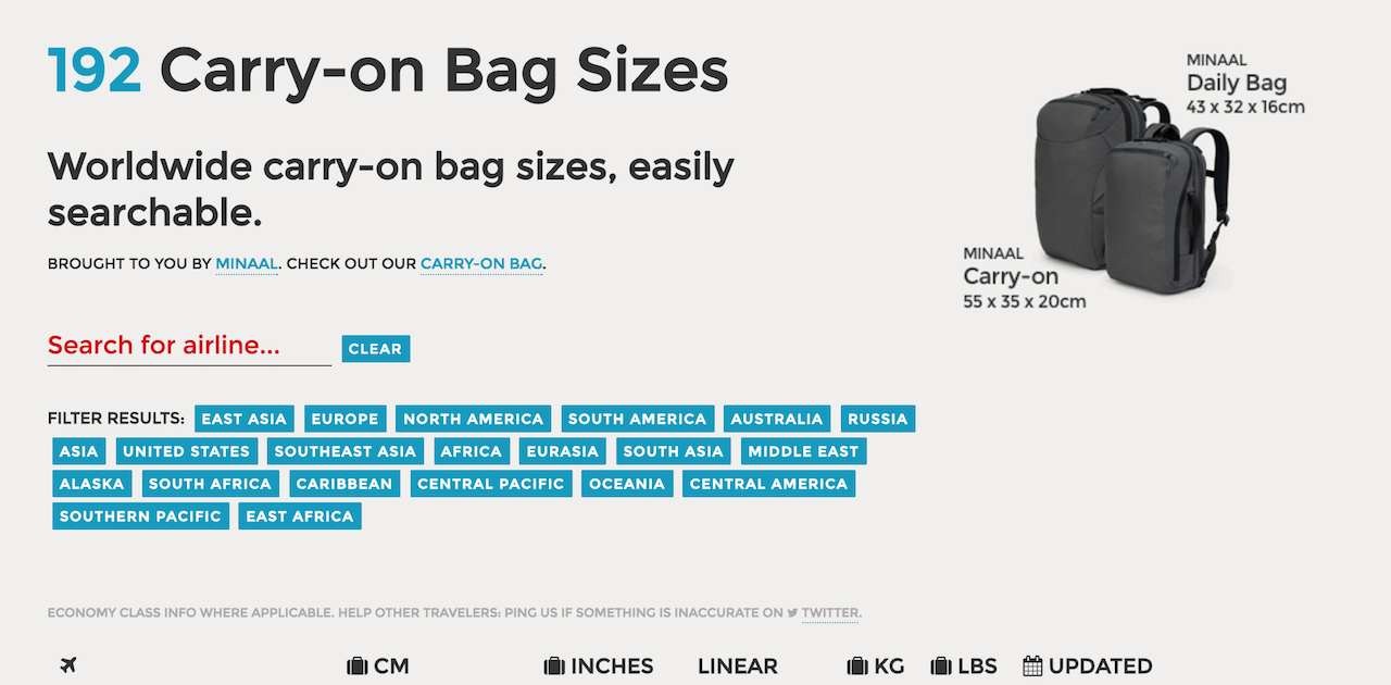 carry on bag sizes tool puts an end to your travel stress