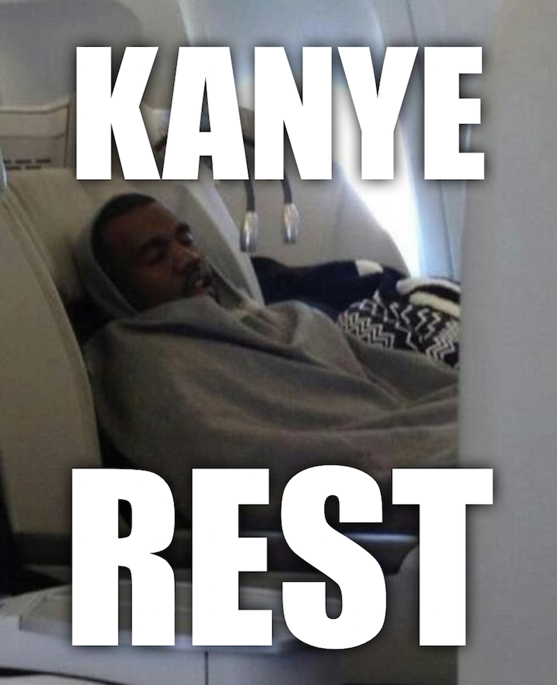 Kanye West Rests Secure In The Knowedge That His Carry-on Bag Size-related Woes Are At An End
