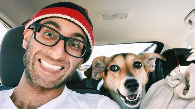 Digital nomad Amit Gupta and his best friend on a road trip