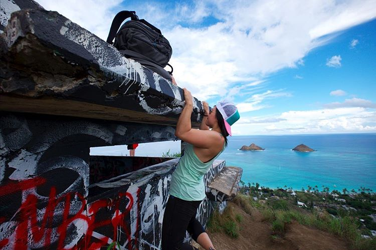Stephanie Lee on the Lanikai Pillbox Hike, Hawaii